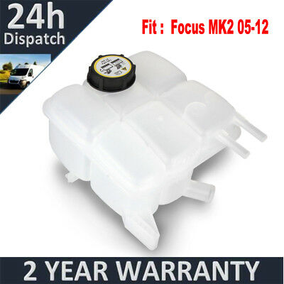 For Ford Focus MK2 2004-2011 Engine Coolant Expansion Header Tank Bottle W/ Cap