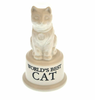 "World's Best Cat Pokal - Keramik Katze 5 "" / 12.7 cm"
