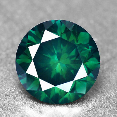 Blue Green Diamond Round 1.05 cts Loose Diamond Fancy Natural F729