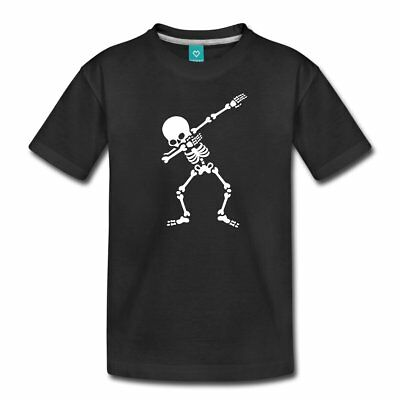 Dab Skelett Dabbing Gerippe Halloween Teenager Premium T-Shirt von Spreadshirt®