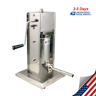 5L Vertical Commercial Sausage Stuffer 15LB Stainless Steel Meat Press【US SHIP】