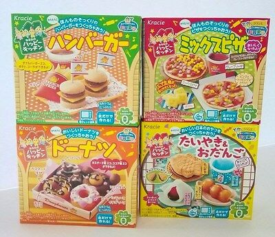 New Kracie Popin Cooking Happy Kitchen Making 4Item Japanese DIY Candy Kits