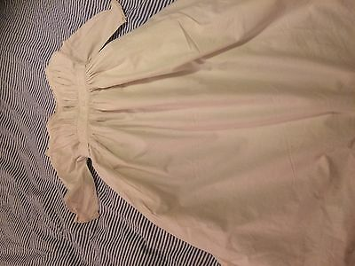 Antique vintage thick cotton christening gown baby doll English lace embroidery