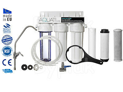 Premium Home Under Sink Water Purifier and Softener Filter Kit – Salt Free