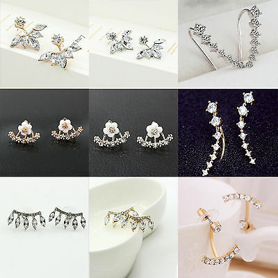 Wholesale Women Fashion Jewelry Elegant Crystal Rhinestone Ear Stud Earrings