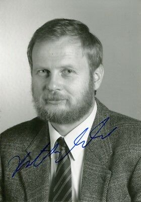Hartmut Michel autograph Nobel prize in chemistry 1988, photo signed