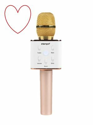 Karaoke microphone intempo wireless christmas gift bluetooth party