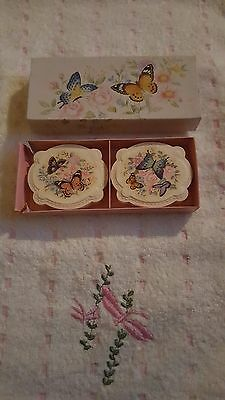 🌹vintage Avon Butterflies And Blossoms Guest Soaps X 2 - Never Used