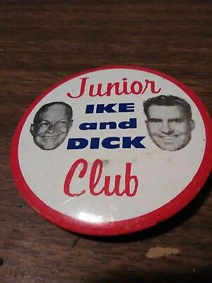 Eisenhower Ike And Dick Junior Club Button