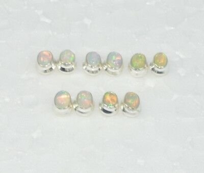 Wholesale 5Pc 925 Solid Sterling Silver Natural Ethiopian Opal Earring Lot-92