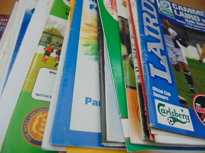 Bundle 36 x Non League Programmes North West All Different Clubs Listed (Lot 2)