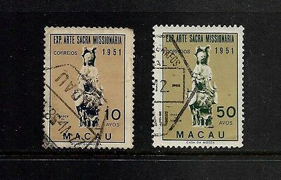MACAU, Macao - 1953 Missionary Art Exhibition, used