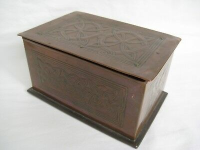 Antique Arts & Crafts KESWICK SCHOOL OF INDUSTRIAL ARTS Copper Box