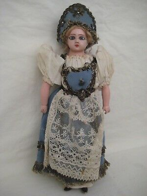 Antique Russian Composition & Glass Eye Doll