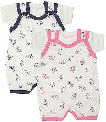 BabyPrem Cotton Baby Boys Girls Summer Clothes T-shirt & Dungarees Romper 0-3m