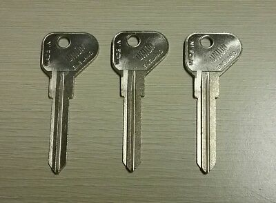 LEYLAND - UNION Key Blanks (Long ones) - 3 of them. Made in England. GENUINE NOS