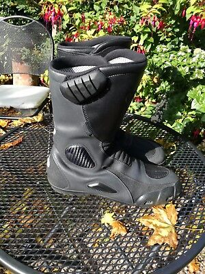 Triumph Leather Motorcycle waterproof boots size 43/9