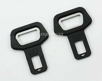 2pc Car Vehicle Seat Belt Buckle Clip Alarm Stopper Stop & Beer Bottle Opener
