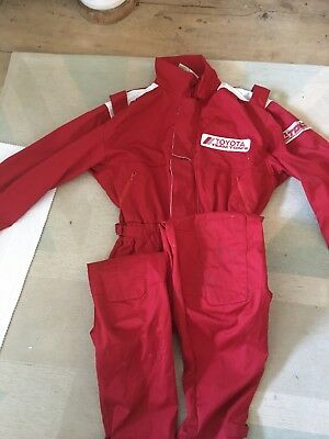 TEAM TOM's Toyota sport car team racing overalls