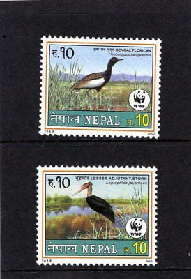 NEPAL 2000 the pair of R.10 Bird issues  Mtd MINT