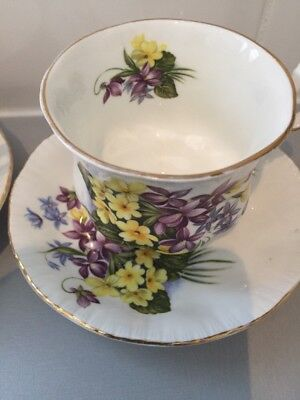 Paragon 2 Flower Festival tea cup and saucers Of Different Flowers