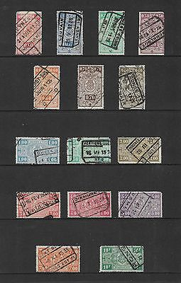BELGIUM - Railway Parcels stamps, mixed collection No.13