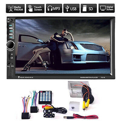 7'' 2 DIN In Dash HD Bluetooth Touch Car Stereo Radio MP5 Player USB+Camera ASUS