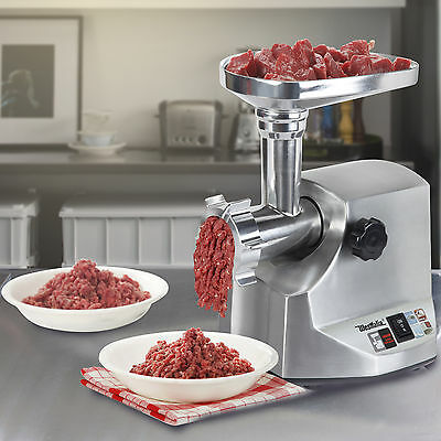 1800W Steel Electric Meat Grinder Home Commercial Stainless Sausage Stuffer