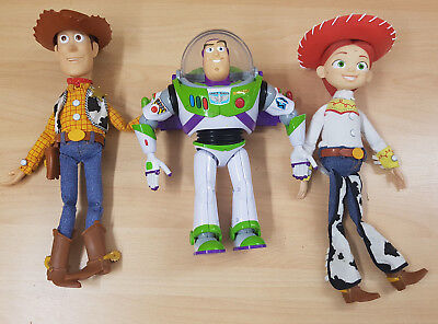 Disney Pixar Toy Story Interactive Talking Woody, Buzz & Jessie Dolls