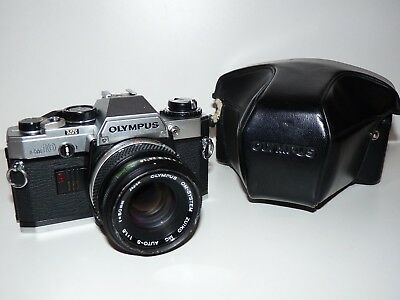 Olympus Om10 Slr Camera With Lens And Case, Working Order