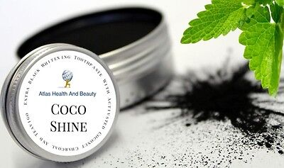 Coco Shine™ Whitening Toothpaste Powder Activated Coconut Charcoal 15g