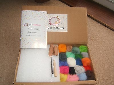 Binbin arts Needle Felting Starter Kit  Merino Wool, every thing to start new