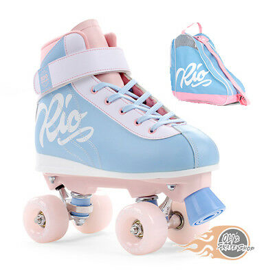 Rio Roller Milkshake Quad Roller Skates - Cotton Candy - Optional Skate Bag
