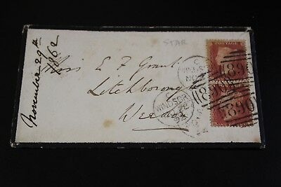 Antique 1862 Windsor To Weedon 2 X Penny Red Stamp Envelope (5)