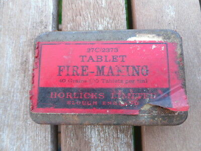 RAF Survival Tablet Fire Making Tin 27/C 2373 with some contents
