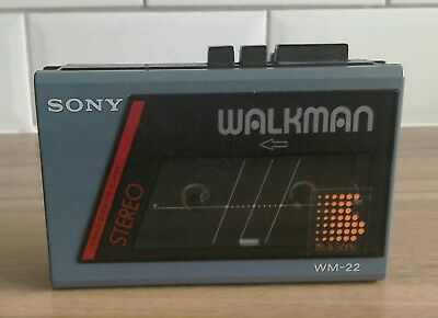 Sony Walkman WM-22 Retro 80's Blue stereo cassette player