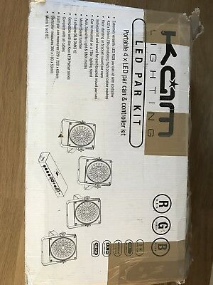 Kam Led 4 Par Can Kit With Controller Unused Ex Demo RRP £189.99