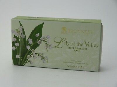 Bronnley Lily Of The Valley Soap 3 X 100G Boxed