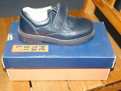 PETASIL REAL LEATHER BOYS' NAVY SHOES x 13 PAIRS BOXED NEW JOBLOT WEDDING SCHOOL