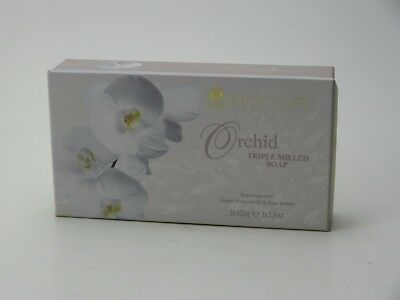 Bronnley Orchid  Soap 3 X 100G Boxed Triple Milled