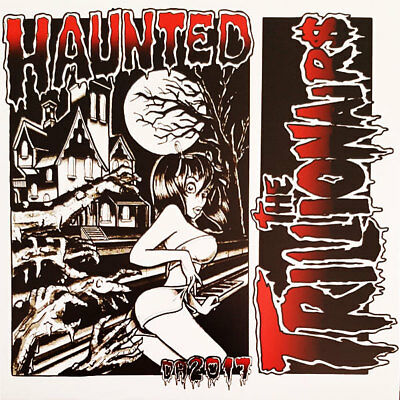"""THE TRILLIONAIRS Haunted 7"""" . neo rockabilly psychobilly cramps meteors mad sin"""