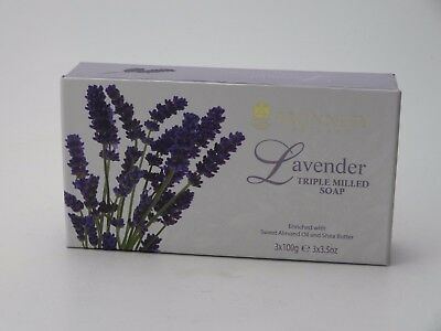 Bronnley Lavender Soap 3 X 100G Boxed Triple Milled