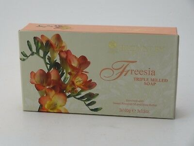 Bronnley Freesia Soap 3 X 100G Boxed Triple Milled