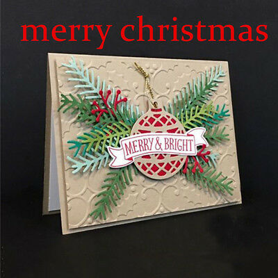 Christmas Tree Metal Cutting Dies Scrapbooking Embossing Folder Crafts DIY