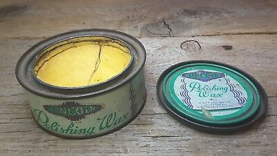 1930's Lincoln Polishing Wax Advertising Tin w contents FORD Motor Co