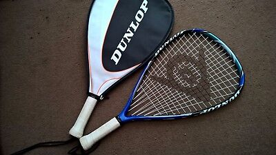 Pair of Dunlop Tennis/Racketball Rackets in Good Condition +3 Balls