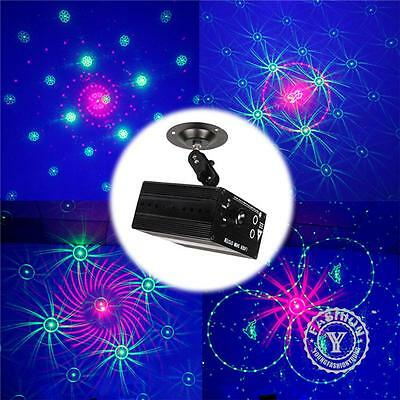 Mini 48 Patterns Laser Projector Stage Lighting LED RGB Light Party DJ Disco