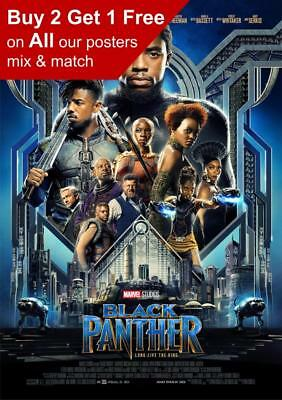 Marvel Black Panther Movie Poster A5 A4 A3 A2 A1