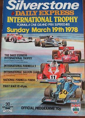 Silverstone Daily Express International Trophy 1978 Programme