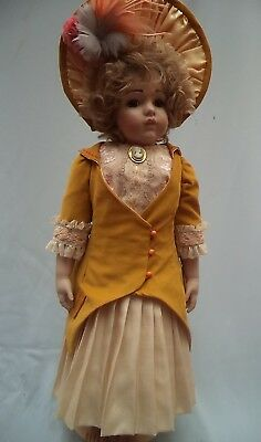 """French Style Dress Jacket & Hat To Fit 27/28"""" Antique/reproduction Doll"""